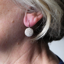 Load image into Gallery viewer, Silver 'Porous' earrings