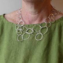 Load image into Gallery viewer, Silver large link necklace