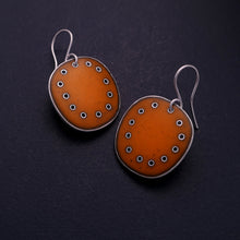 Load image into Gallery viewer, Large Orange Earrings