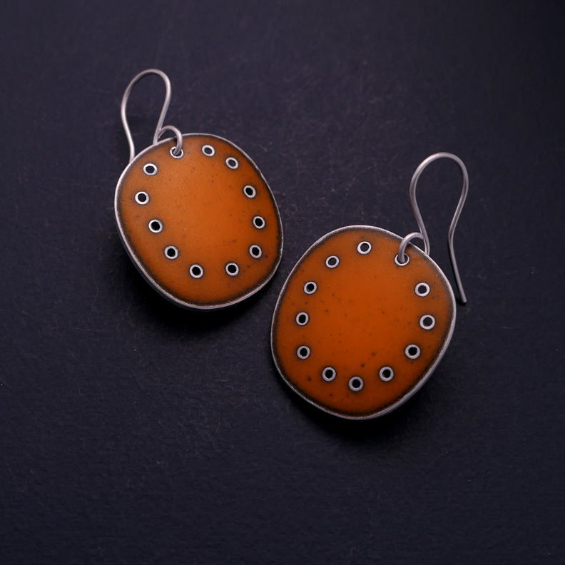 Large Orange Earrings