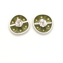 Load image into Gallery viewer, Green-honesty stud earrings