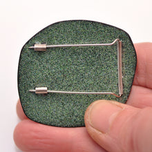Load image into Gallery viewer, Blue Seagrass sgraffito Brooch