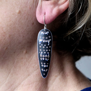 'Cleo' Earrings, long and slender