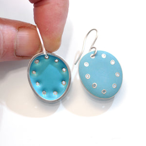 Large 'Honesty' earrings, Turquoise