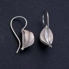 Load image into Gallery viewer, Fat Seed Pod Silver Earrings
