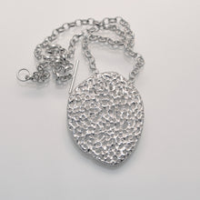 Load image into Gallery viewer, 'Porous' perforated sterling silver pendant