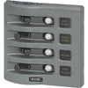 Blue Sea 4374 WeatherDeck Water Resistant Circuit Breaker Panel - 4 Position - Grey [4374]