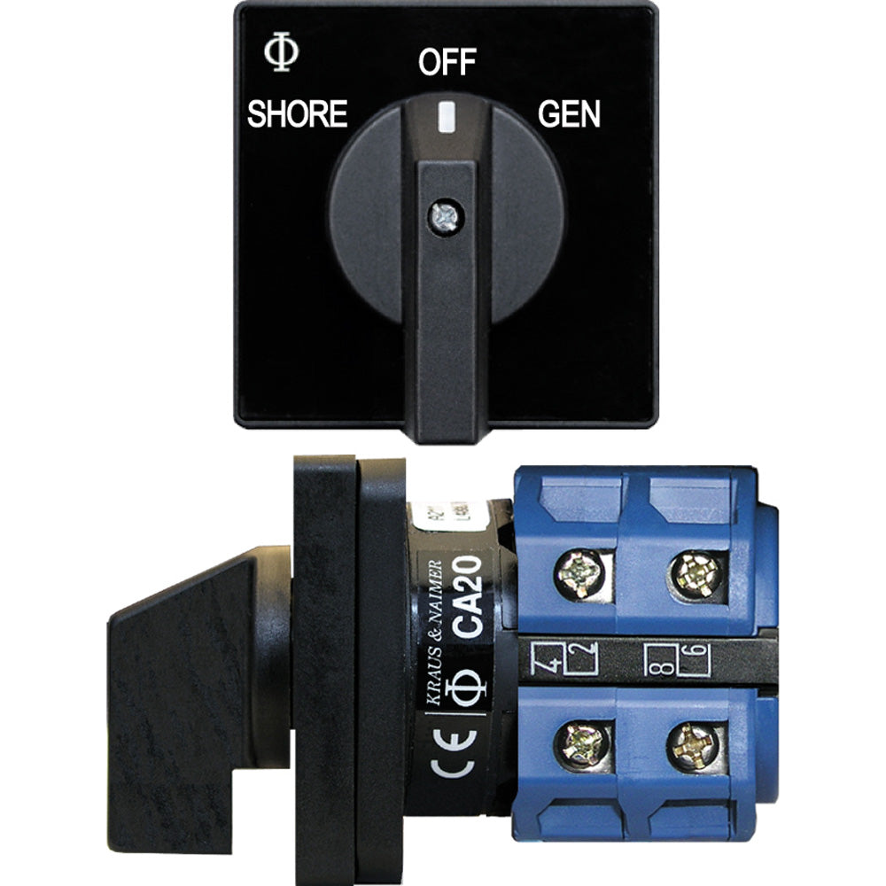 Blue Sea 9009 Switch, AC 120VAC 32A OFF +2 Position [9009]