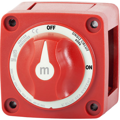 Blue Sea 6006 m-Series (Mini) Battery Switch Single Circuit ON/OFF Red [6006]