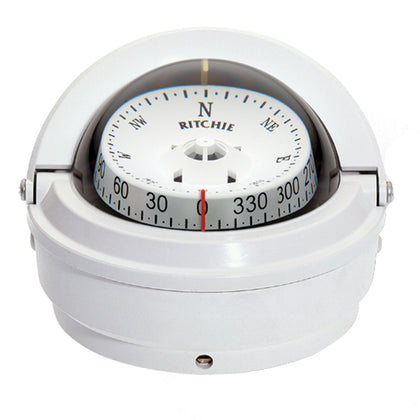 Ritchie S-87W Voyager Compass - Surface Mount - White [S-87W]