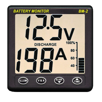 Clipper BM-2 Battery Monitor w/Shunt - 200Amp [BM-2]