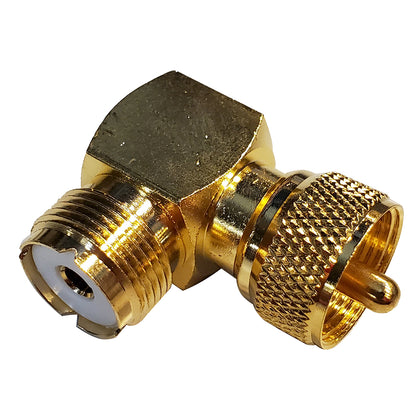 Shakespeare Right Angle Connector - PL-259 to SO-239 Adapter [RA-259-239-G]