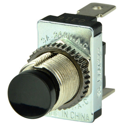 BEP Black SPST Momentary Contact Switch - OFF/(ON) [1001402]