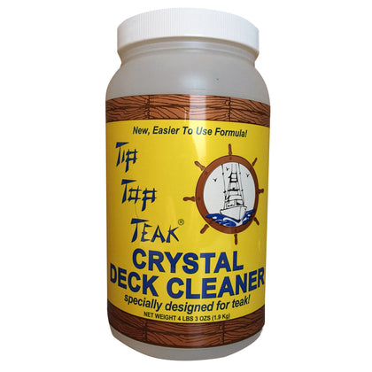 Tip Top Teak Tip Top Teak Crystal Deck Cleaner - Half Gallon (4lbs 3oz) - *Case of 6* [TC 2001CASE]