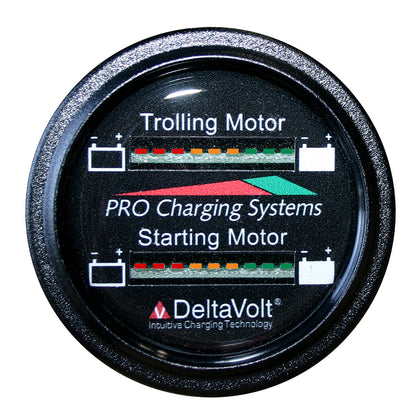Dual Pro Battery Fuel Gauge - Marine Dual Read Battery Monitor - 12V/36V System - 15 Battery Cable [BFGWOM1536V/12V]