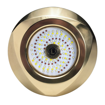 Lumitec Typhoon Underwater Bronze Thru-Hull LED Light - White/Blue [101448]