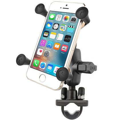 RAM Mount X-Grip Phone Mount w/Handlebar U-Bolt Base [RAM-B-149Z-A-UN7U]
