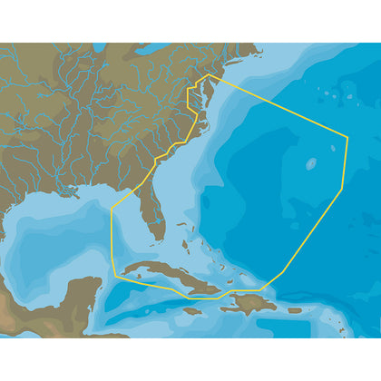 C-MAP 4D NA-063 Chesapeake Bay to Cuba - microSD/SD [NA-D063]