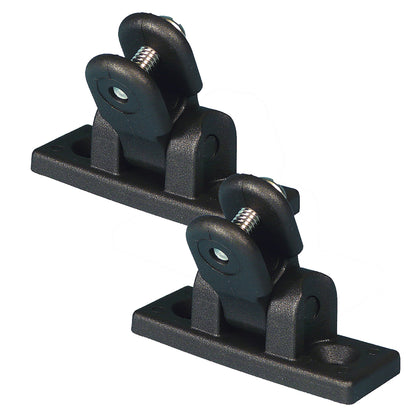 Carver Deck Hinge Nylon Pair - Black [7782B]