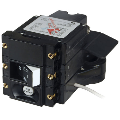 Blue Sea A-Series ELCI Main Circuit Breaker - Double Pole 120V AC 30A - Flat Rocker [3102100]