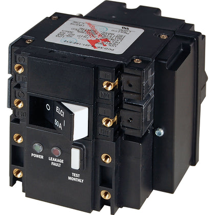 Blue Sea C-Series ELCI Main Circuit Breaker - Double Pole 120V AC 50A [3103]