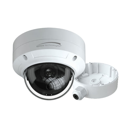 Speco 4MP H.265 AI Dome IP Camera w/IR 2.8mm Fixed Lens - White Housing w/Included Junction Box (Power Over Ethernet) [O4D6]