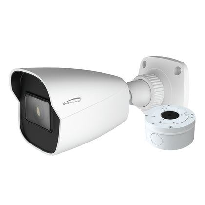 Speco 4MP H.265 AI Bullet Camera 2.8mm Lens - White Housing w/Included Junction Box (Power Over Ethernet) [O4B6]