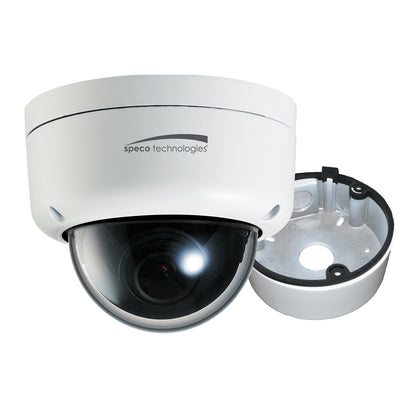 Speco 2MP Ultra Intesifier IP Dome Camera 3.6mm Lens - White Housing w/Removable Black Cover  Included Junction Box [O2ID8]