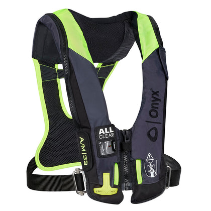 Onyx Impulse A/M 33 All Clear w/Harness Auto/Manual Inflatable Life Jacket - Grey [134300-701-004-21]