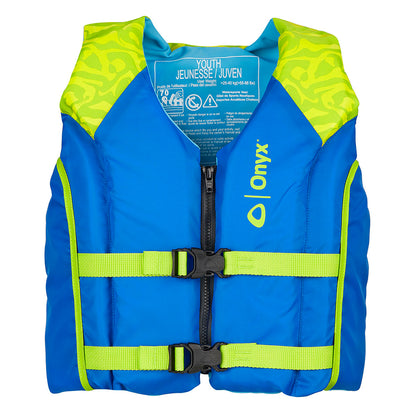 Onyx Shoal All Adventure Youth Paddle  Water Sports Life Jacket - Green [121000-400-002-21]