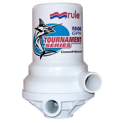 Rule Tournament Series 1600 GPH Livewell Pump Dual Port [209FDP]