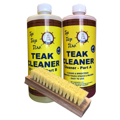 Tip Top Teak Cleaner Kit Part A  Part B w/Brush [TK860]