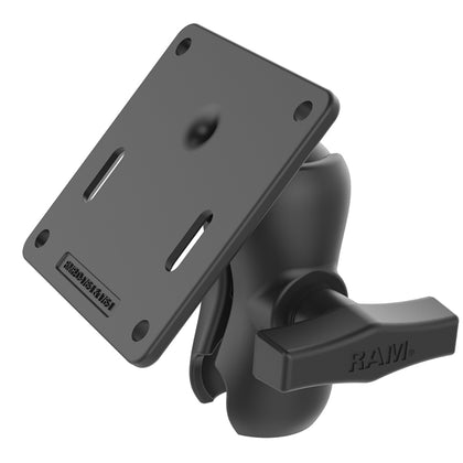 RAM Mount RAM Double Socket Arm w/75x75mm VESA Plate [RAM-103U-B-2461]