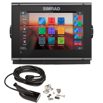 Simrad GO7 XSR Chartplotter/Fishfinder w/HDI Transom Mount Transducer  C-MAP Discover Chart [000-14326-002]