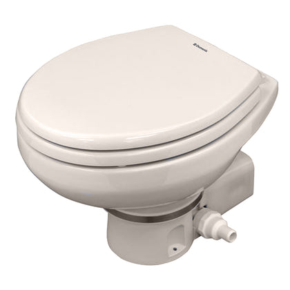 Dometic MasterFlush 7160 Bone Electric Macerating Toilet w/Orbit Base - Raw Water [9108834578]