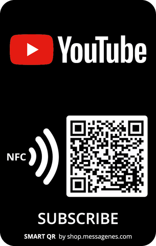 "YouTube ""Subscribers"" Sticker with QR & NFC"