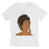 Misfit Goddess Unisex Short Sleeve V-Neck T-Shirt