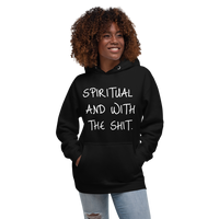 Spiritual and Bout It (White) Unisex Hoodie