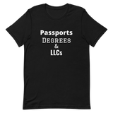 Passports Degrees & LLCs Short-Sleeve Unisex T-Shirt
