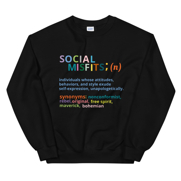 Define an Accessory Misfit Unisex Sweatshirt