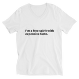 Expensive Taste Unisex Short Sleeve V-Neck T-Shirt