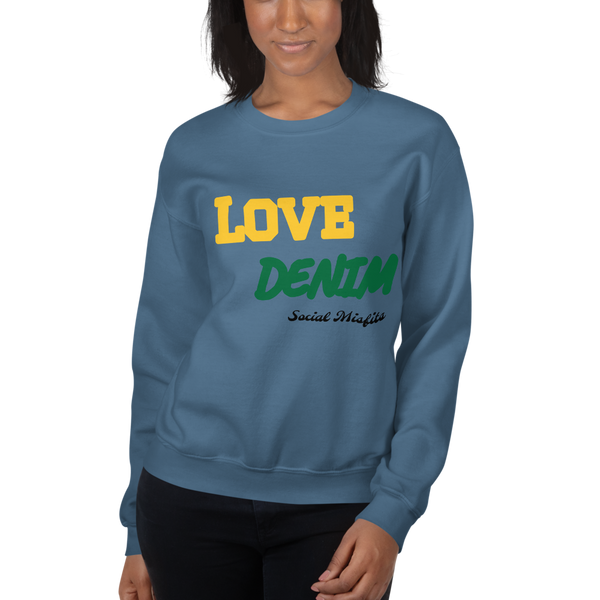 Love Denim by Social Misfits Unisex Sweatshirt