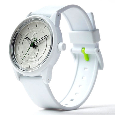 SmileSolar Watch #1 - White/Green