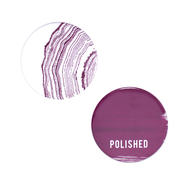 Polished Button Mirror Set by Odeme
