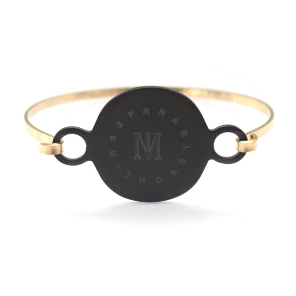 Arial Bracelet Black/Gold by Imperial United