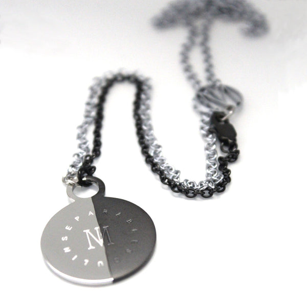 Arial II Necklace Black/Silver Front