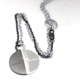Arial II Necklace Black/Silver Back
