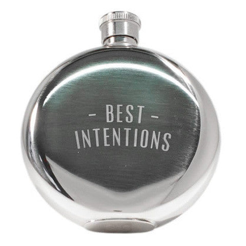 5oz 'Best Intentions' Whisky Flask by Izola
