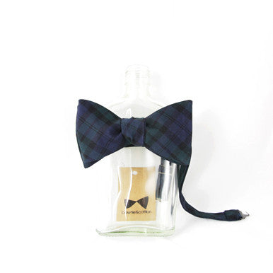 Green/Navy Plaid Bow Tie by bowtie&cotton
