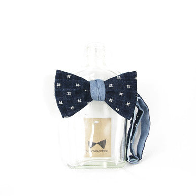 Indigo/Chambray Reversible Bow Tie by bowtie&cotton